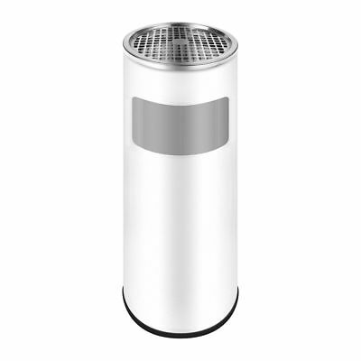 Stainless Steel Standing Ashtray & Bucket 24, 5x60cm Trash Can Floor