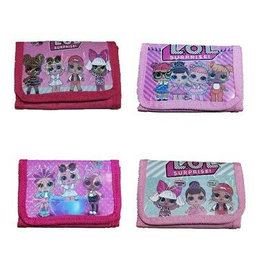 LOL Surprise Girls Wallet Coin Purse Trifold Zip Kids Birthday Party Gift