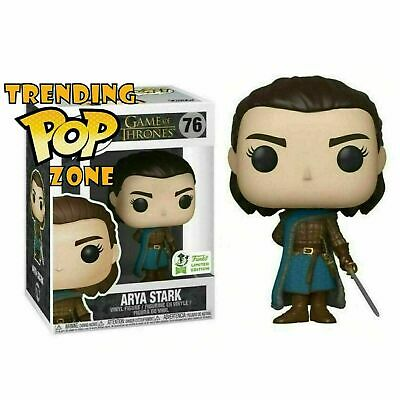 Funko Pop #76 Game of Thrones Arya Stark Assassin ECCC Shared Exclusive NEW