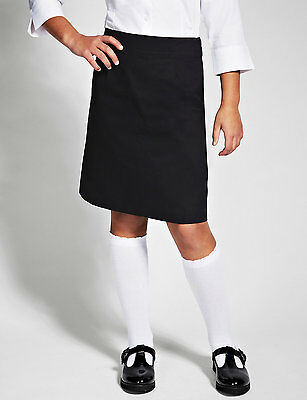 Girls straight school skirt in navy blue age 4 years Marks and Spencer new