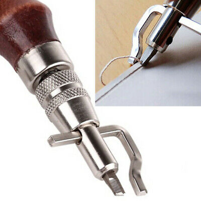 5in1 Leather Craft Tool Edge Stitching Groover Creaser Beveller Punch Sewing Set