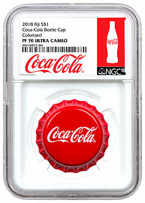 2018 Fiji Coca-Cola Bottle Cap-Shaped 6 g Silver NGC PF70 UC Exclusive SKU54043