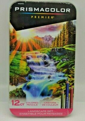 Prismacolor Premier Colored Pencils, Soft Core, Landscape Set, 12 Count. SEALED
