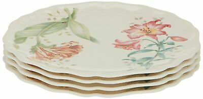 Lenox Butterfly Meadow Accent Plates Platic Set of 4