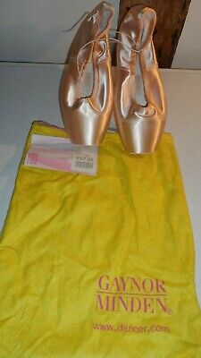 Pink Satin Pointe Shoes with Leather Soles ExtraFlex by Gaynor Minden BNWT