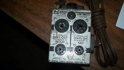 antique General Cement Tube Continuity Checker Tester model 9270 110vac