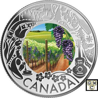 2019Wine Tasting-Cele. Cndn.Fun and Festivities'Prf $3 Fine Silver Coin(18814)NT