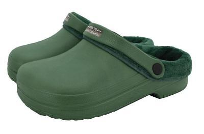 Town & Country Fleecy Cloggies Green Unisex UK Size 6