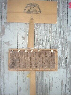 Pair Primitive Vintage Old Whittemore No. 8 Wool Carder Wool Combs lot#1