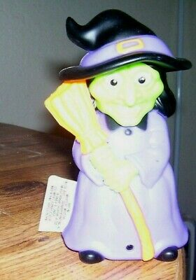 """Greenbriar~Halloween  Witch~Motion Activated~Laughs And Cackles~6'T /2 1/2"""" Base"""