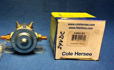 Cole Hersee 24063-BX Continuous Duty SPST Series Solenoid 24 VDC