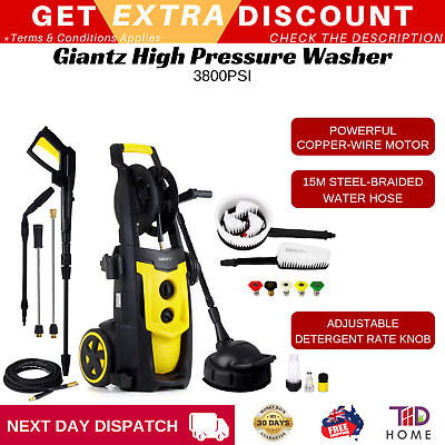 Giantz 3800 PSI High Pressure Washer Cleaner Electric Water Gurney Pump Hose New