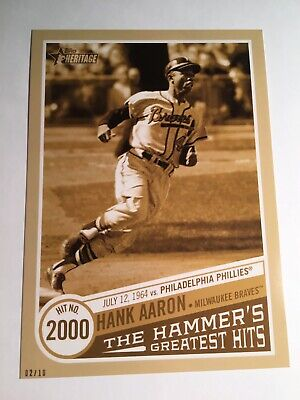 2019 Heritage High Number 5x7 Greatest Hits Hank Aaron 2000th Hit THGH14 02/10