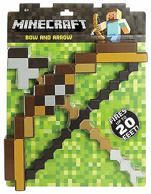 Brown Minecraft Toys Souvenir Bow And Arrow Replica Model PVC Hot Toy Kid's Gift