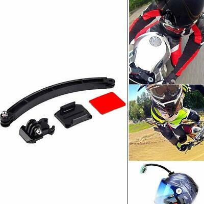 3PCS Motorcycle Cycling Helmet Extension Arm Kit Curved Adhesive Mount For GoPro