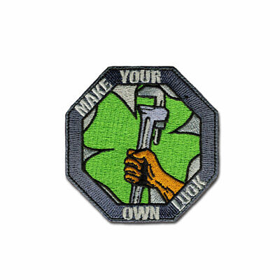Tactical Combat Backpack Morale Patch Badge EMB Hook and Loop - Own Luck Color