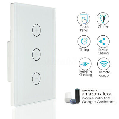 AU Approved Smart WiFi Light Touch Switch Dimmer Wall Lamp for Google Home Alexa