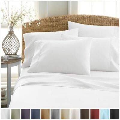 1000TC Microfibre Fitted Bed Sheets Set Ultra Soft PillowCases Double King Queen