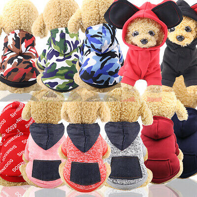 2019 Pet Dog Puppy Winter Warm Cartoon Hoodie Costume Clothes Jumpsuit Apparel