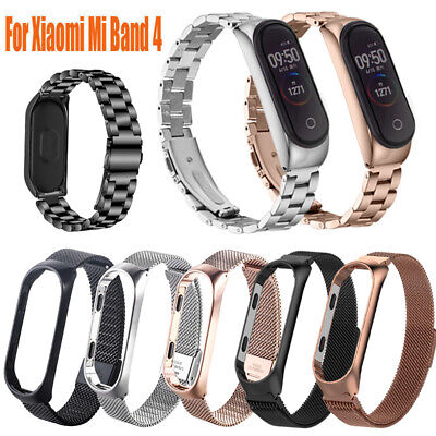 2019 For Xiaomi Mi Band 4 Wrist Bracelet Stainless Steel Replacement Strap NEW
