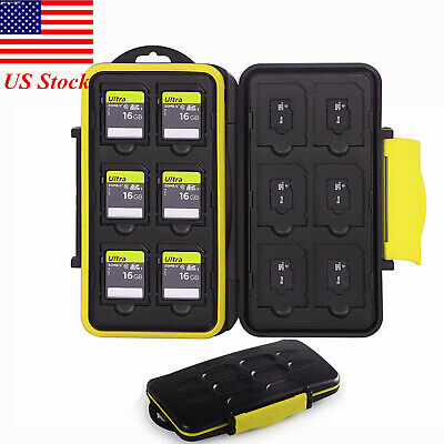 Memory Card Case Storage Box Holder Hard Protector Fits 12 SD+12 Micro SD Cards