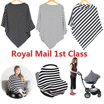Nursing Scarf Cover Up Apron for Breastfeeding Baby Car Seat Canopy Cover 5in1