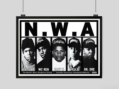 Nwa Poster Dre Dre Ice Cube Rap Rappers Print Image A3 A4 Size