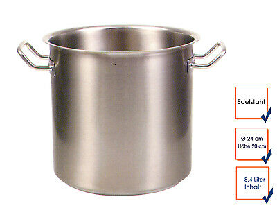 Vegetable Stew Soup Pot Cooking Professional Quality Stainless Steel 8,4L Ø24cm