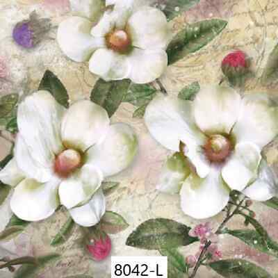 TWO New Paper Luncheon Decoupage Napkins - MAGNOLIA, FLOWER, FLOWERS, BUD (8042)