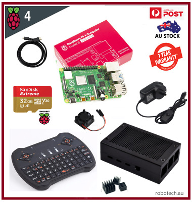 Raspberry Pi 4 Model B Computer 4GB 2GB RAM (2019 Model) Aluminium Case Kit