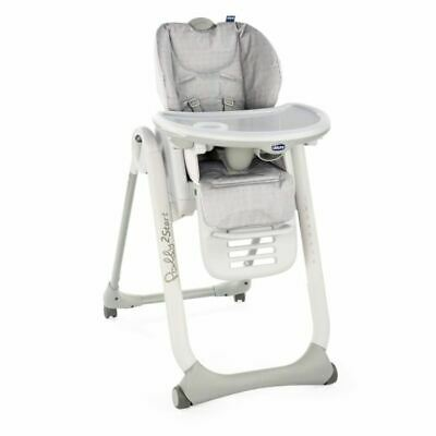 CHICCO Chaise Haute Polly 2 Start - 4 Roues happy silver