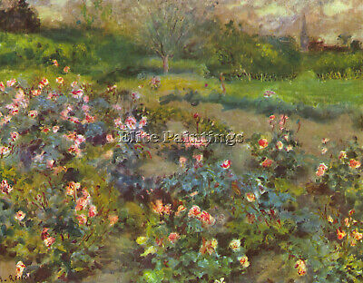 Rose Garden By Renoir Artist Painting Reproduction Handmade Oil Canvas Repro