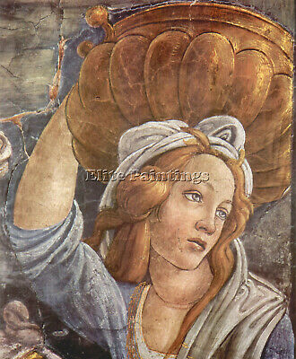 Sistine Chapel Youth Moses Detail 3 Botticelli Artist Painting Oil Canvas Repro