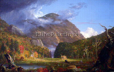 View Mountain Pass Called Notch White Mountans Thomas Cole Artist Painting Oil