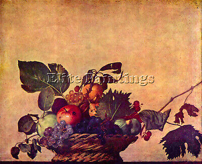 The Fruit Basket By Caravaggio Artist Painting Reproduction Handmade Oil Canvas