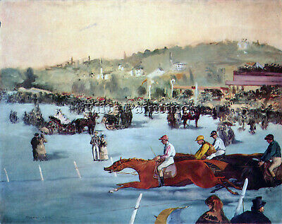 Races At The Bois De Boulogne By Manet Artist Painting Reproduction Handmade Oil
