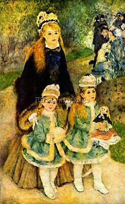 Renoir Walk Artist Painting Reproduction Handmade Oil Canvas Repro Wall Art Deco