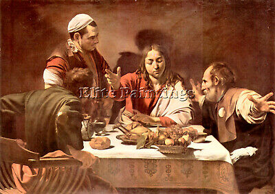 Christ In Emmaus By Caravaggio Artist Painting Reproduction Handmade Oil Canvas