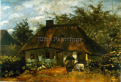 Cottage Artist Painting Reproduction Handmade Oil Canvas Repro Art Deco Repro