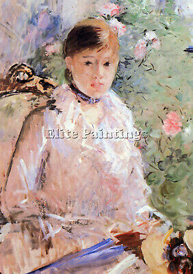 Summer Young Woman At The Window By Morisot Artist Painting Oil Canvas Repro