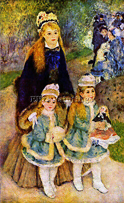 Walk By Renoir Artist Painting Reproduction Handmade Oil Canva Repro Art Deco