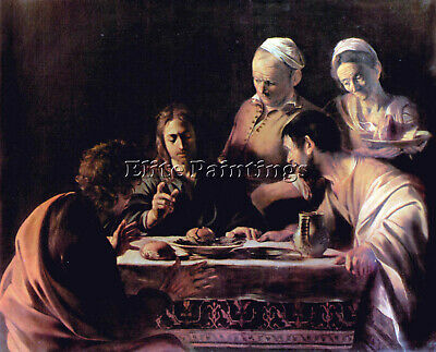 Emmaus By Caravaggio Artist Painting Reproduction Handmade Oil Canvas Repro Deco
