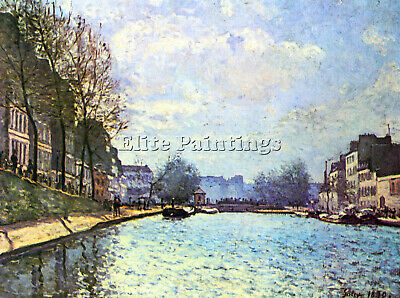 Canal Of Saint Martin By Sisley Artist Painting Reproduction Handmade Oil Canvas