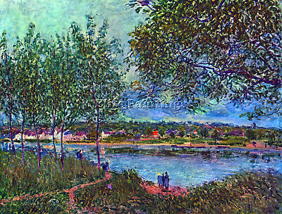 Way Of The Old Ferry By Sisley Artist Painting Reproduction Handmade Oil Canvas