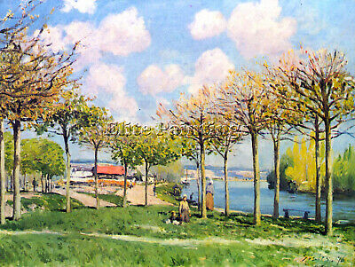 The Seine At Bougival By Sisley Artist Painting Reproduction Handmade Oil Canvas
