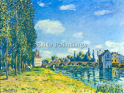 Bridge In Moret In Summer By Sisley Artist Painting Oil Canvas Repro Art Deco