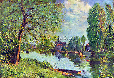 River Landscape At Moret Sur Loing By Sisley Artist Painting Oil Canvas Repro