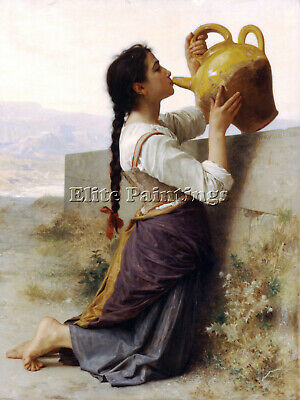 Bouguereau Thirst Artist Painting Reproduction Handmade Canvas Repro Art Deco