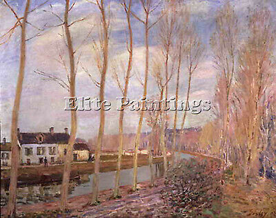 Sisley   Canal Artist Painting Reproduction Handmade Oil Canva Repro Art Deco