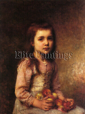 Portrait Of A Young Girl With Apples Artist Painting Reproduction Handmade Oil